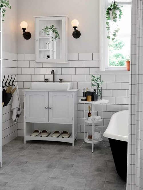 Kvalitní koupelnová skříňka se zrcadlem