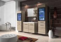 Moderní koupelnová sestava s umyvadlem