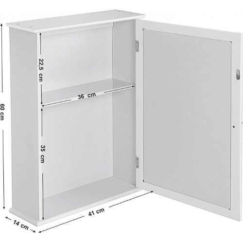 Moderní skříňka se zrcadlem do koupelny