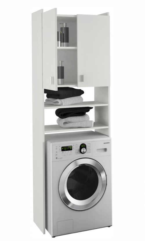 Skříňka nad pračku z bílého lamina