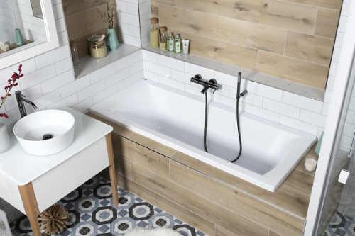 akrylátová obdélníková koupelnová vana