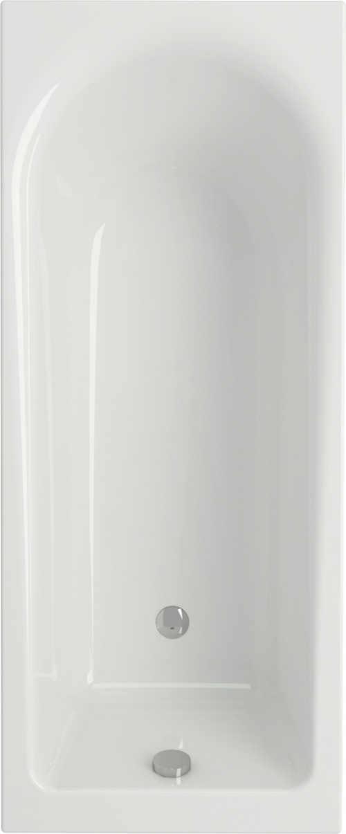 bílá obdélníková vana z akrylátu