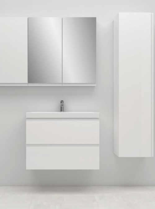 bílý set do koupelny - umyvadlo se skříňkou