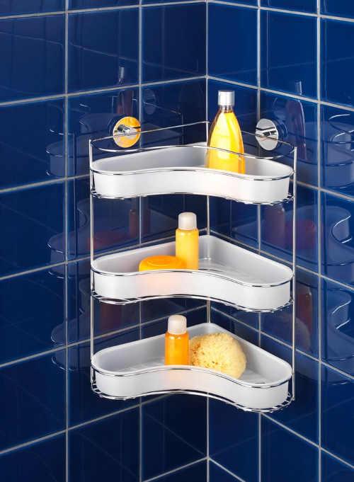 koupelnová prostorná samodržící polička