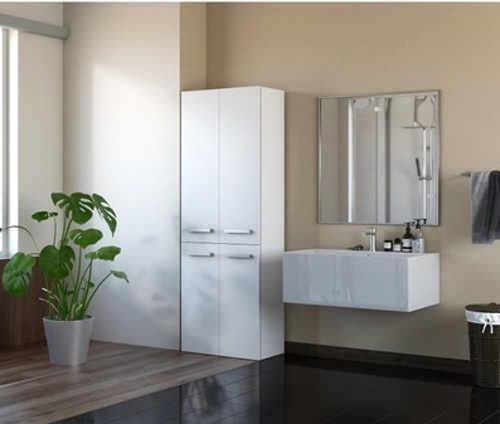 moderní prostorná skříňka do koupelny