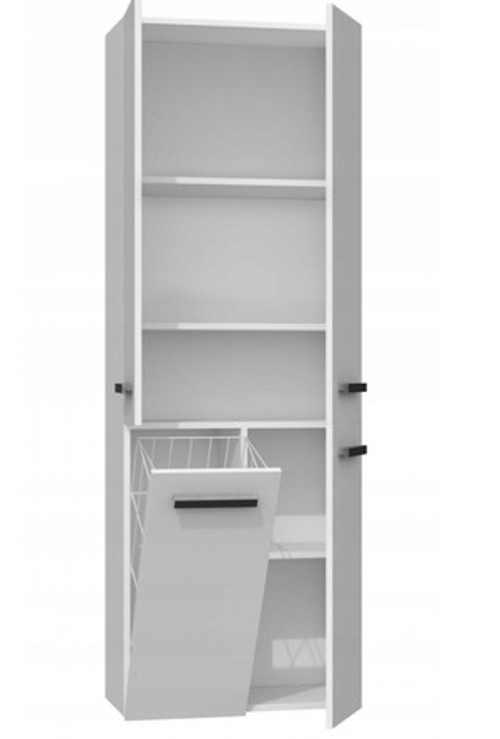 praktická koupelnová skříňka bílá