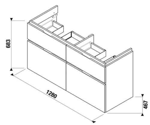 praktická skříňka do koupelny z masivu