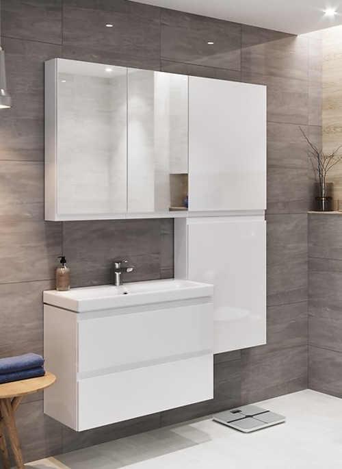 praktický set do koupelny v bílé barvě