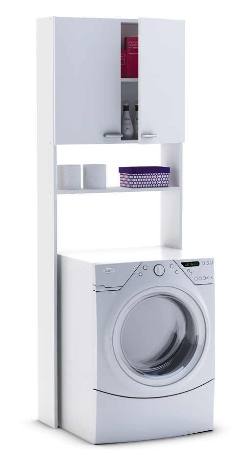 Bílá koupelnová skříňka nad pračku levně