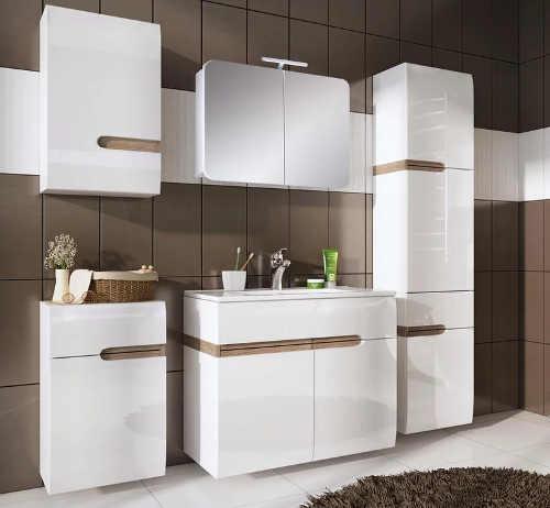 Elegantní nábytek do koupelny bílý lesk
