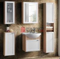 Jednoduchá a moderní koupelnová sestava s prosklením