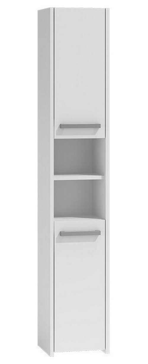 Levná bílá vysoká koupelnová skříňka 170x30x30 cm