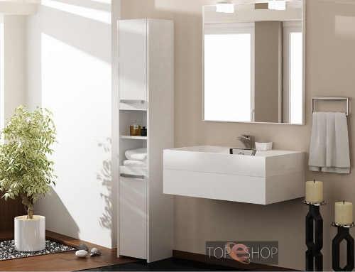Levné bílé skříňky do koupelny