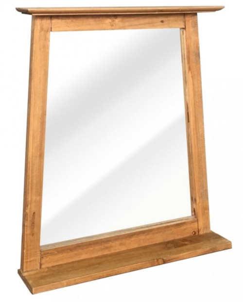 Dřevěné koupelnové zrcadlo lichoběžník