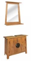 Dřevěný vintage nábytek do koupelny