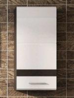 Horní závěsná koupelnová skříňka bílý lesk