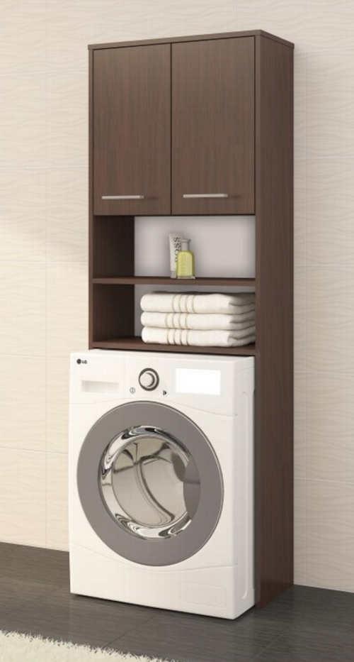 Koupelnový regál nad pračku Fin wenge