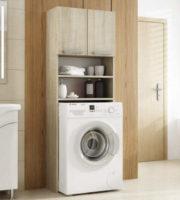 Levná skříňka do koupelny s otvorem na pračku