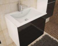 Závěsná koupelnová skříňka pod umyvadlo extra vysoký lesk
