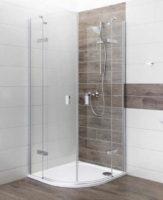 Sprchový kout v lesklém chromovém provedení