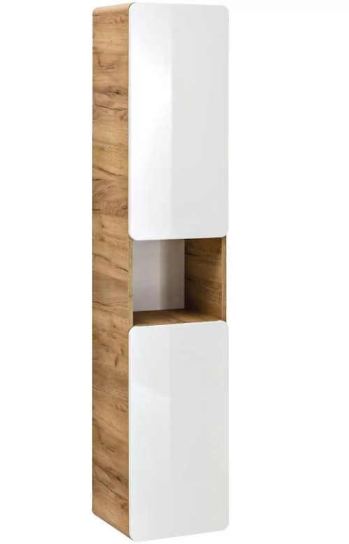 Závěsná vysoká skříňka do koupelny