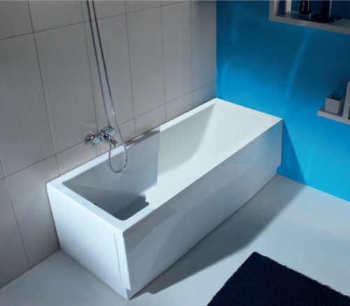 akrylátová bílá vana do koupelny