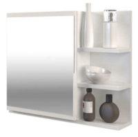 Bílá zrcadlová skříňka do koupelny