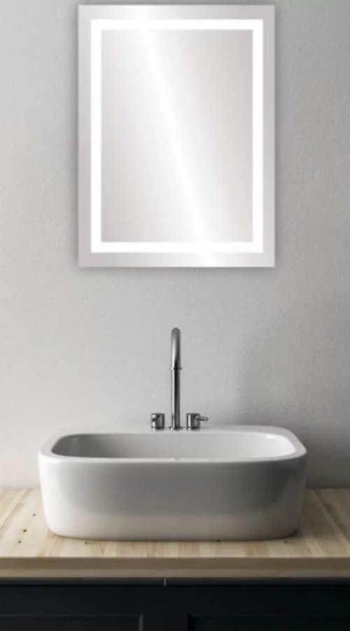 Levné zrcadlo s osvětlením do moderní koupelny