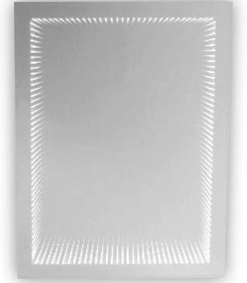 Obdélníkové koupelnové zrcadlo s LED osvětlením Baumax