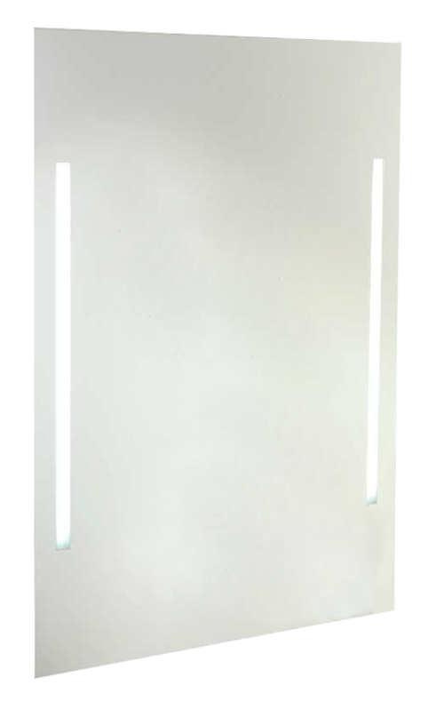 Obdélníkové zrcadlo s LED osvětlením o rozměru 60x80 cm