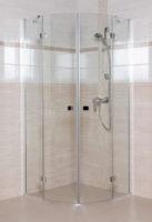 Sprchový kout v lesklém chromu