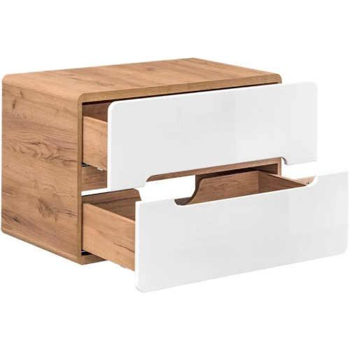 koupelnová skříňka v dekoru dub-bílá