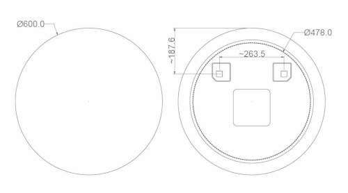 Montáž a připojení kulatého koupelnového zrcadla
