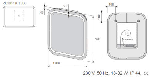 Uchycení a připojení koupelnového zrcadla s LED osvětlením