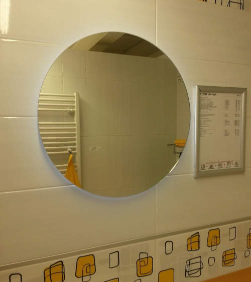 Velké kulaté zrcadlo s LED osvětlením