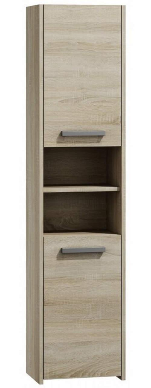 Vysoká koupelnová skříňka s regálem 40 dub sonoma