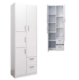 Praktická vysoká koupelnová skříňka