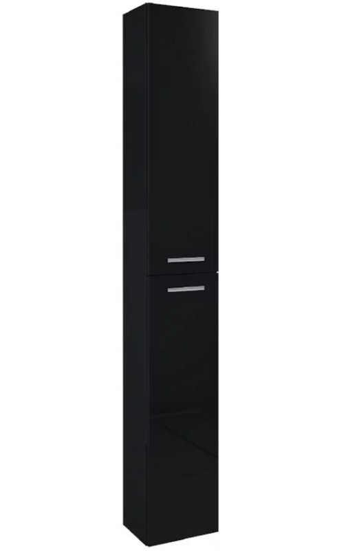 Vysoká černá závěsná koupelnová skříňka Boa Vista
