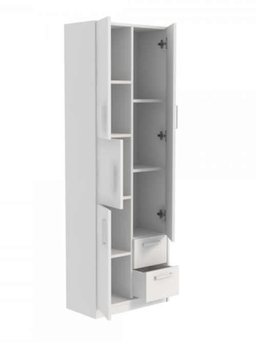 bílá vysoká skříňka do koupelny
