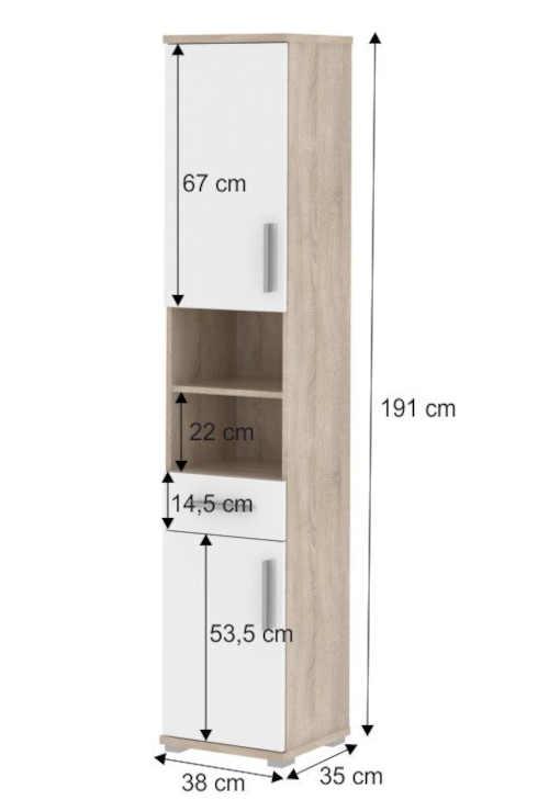praktická vysoká úzká skříňka