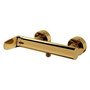 Nástěnná sprchová baterie ve zlatém provedení